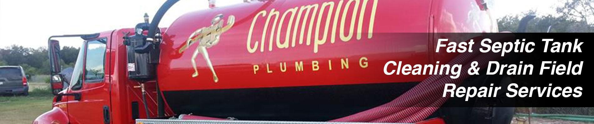 Champion Plumbing Greater San Antonio, TX Area